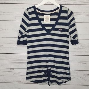 Hollister | Striped Drop Waist V-Neck Shirt